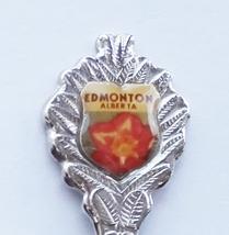 Collector Souvenir Spoon Canada Alberta Edmonton Flower Emblem - $1.50