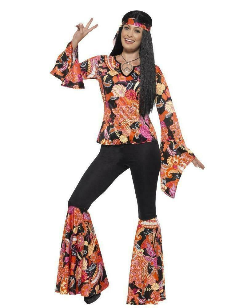 Primary image for Smiffys Willow the Hippie 1960s Floral Adult Womens Halloween Costume 45516