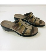 CLARKS Open Toe Metallic Bronze Sandals 81889 Womens US Size 7M - $46.48