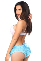Baby Blue  Ruffle Panties with Bow ~ (Includes Plus Sizes) - $25.95
