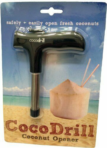CocoDrill Young Coconut Opening Tool -(Punch Tap) Knife Opener for Raw Coco W...