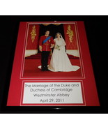 2011 Prince William Marries Kate Middleton Cambridge Framed 11x14 Photo ... - $32.36