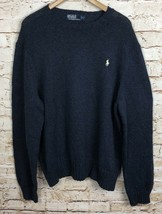 Polo By Ralph Lauren Sweater Crew Neck Blue Cotton Linen Blend Men's Siz... - $33.66