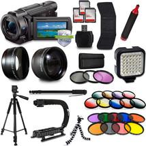 Sony FDR-AX33 4K HD Handycam Camcorder Video Camera Mega Kit + 2 Yr Warr... - $1,158.74