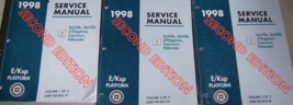 1998 Cadillac DeVille d'Elegance Concours Eldorado Service Manual Set W ... - $27.67