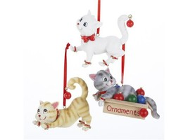 12  CHRISTMAS CAT COLLECTABLE  HANGING ORNAMENT  FIGURINES - $129.59