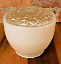 Vintage Light Shade Clear Textured White Globe Glass - $24.49