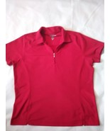 Women's Pebble Beach Performance Red short sleeve polo size XL - $9.50