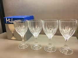 Set of 4 Mikasa Park Lane Full Lead Crystal Goblet Glasses SN101/001 IOB - $43.65