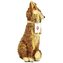 """Delton Products Rustic Natural Tan Brown Seated Sitting Fox 10"""" Resin Figurine image 4"""