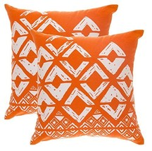 TreeWool 2 Pack Throw Pillow Covers Geometric Squares Accent Decorative ... - $17.99