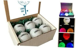 - LED Glow in The Dark Golf Balls - Lighted Golf Balls - Glowing Golf Ba... - $51.36