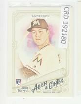 2018 Topps Allen /& Ginter/'s X Mini Silver #237 Brian Anderson Miami Marlins Card