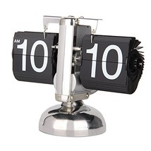 Betus Retro Style Flip Desk Shelf Clock - Classic Mechanical-Digital Dis... - $51.21