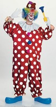 Rubies Dotted Clown Polka Dot Jumpsuit Adult One Size Halloween Costume ... - £13.90 GBP