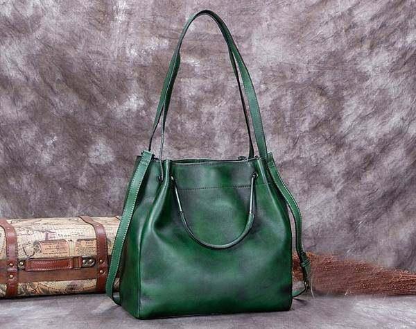 Sale, Full Grain Leather Handbag, Women Designer Shoulder Bag image 6