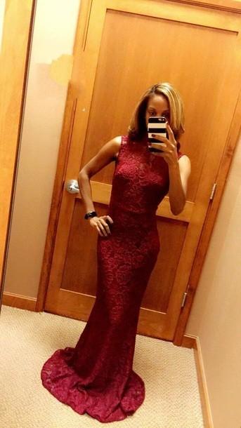 2018 sexy column prom dress red lace sleeveless evening dress,HH040