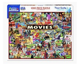 NEW White Mountain Puzzles The Movies - 1000 Piece Jigsaw Puzzle - $19.00