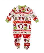 Dr. Seuss The Grinch Christmas Pajamas Boy Girl Blanket Sleeper 12 Month... - $13.99