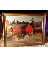 """Vintage Framed 1950s Art Replica Of """"Goin Fishing"""" by Brightwell 27"""" x 21"""" - $29.69"""