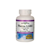 Natural Factors Stress-Relax Pharma GABA, 60 Chewable Tablets - $20.97