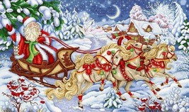 Counted Christmas Cross Stitch Kit Christmas Print - $66.00