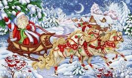 Counted Christmas Cross Stitch Kit Christmas Print - $66.00