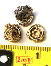 2 - Floral Spacer Fine Pewter Beads image 2