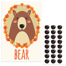 Forest Bear Pin The Nose Birthday Party Game - $21.29