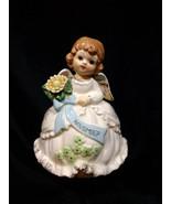 Vintage *PRICE IMPORT*  November Birthday Music Box, LITTLE ANGEL w/Flow... - $32.00