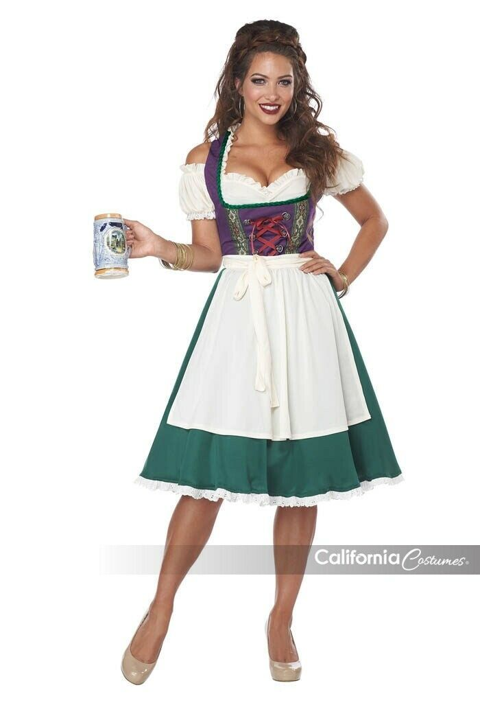 California Costumi Bavarese Birra Donna Oktoberfest Costume Halloween 01411