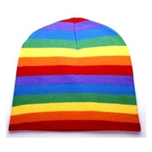LGBT Retro Punk Winter Ski Snowboarding ~ Rainbow Gay Stripe Beanie ( Qt... - $17.07 CAD