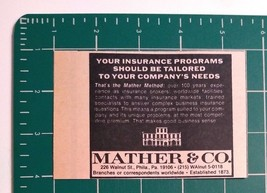 1976 Mather & Co. Insurance Brokers Advertisement Philadelphia - $16.00