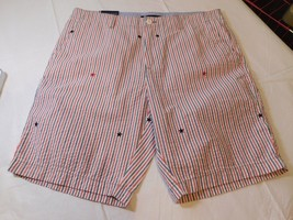 "Tommy Hilfiger Mens Shorts Casual 78C5911 641 9"" Inseam 34 striped stars... - $40.83"