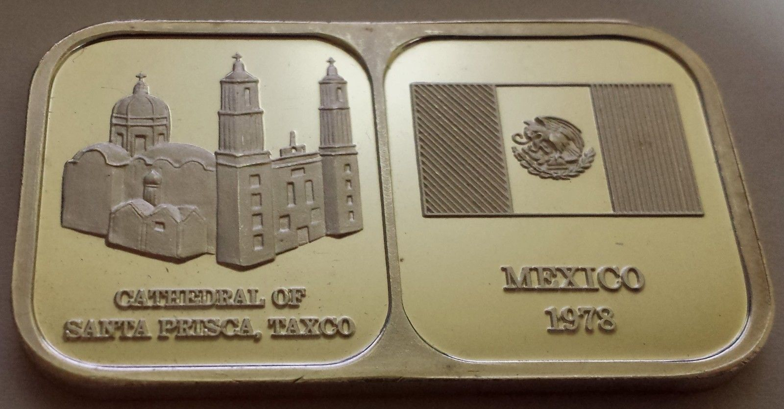 1978 Rosario Resources Silver Art Ingot 1 Troy Ounce Bar Mexico Lot M 562