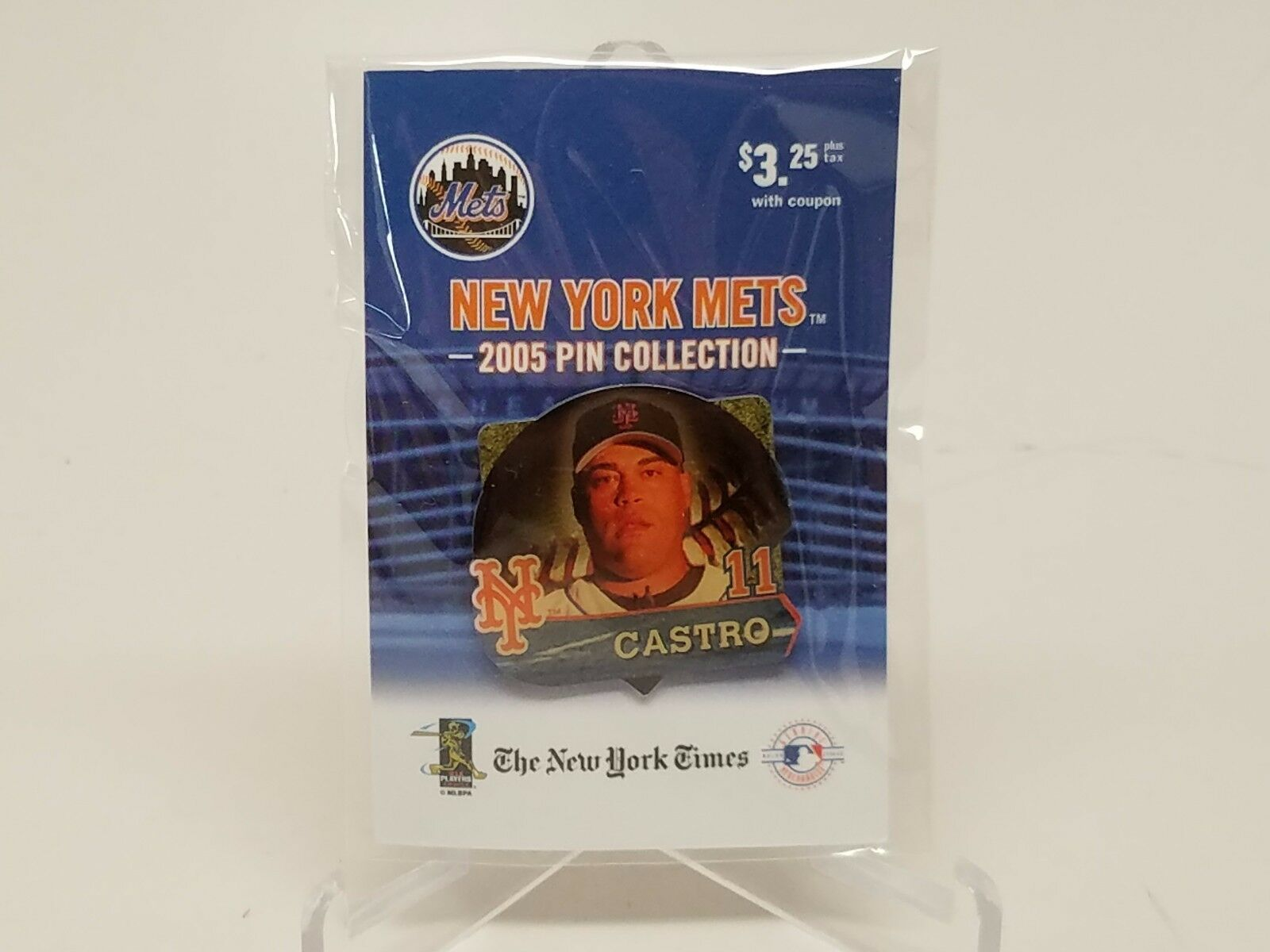 New York Mets 2005 Pin Collection Ramon Castro #15 New York Times New