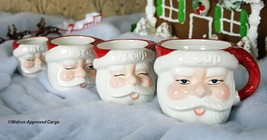 POTTERY BARN VINTAGE SANTA MEASURING CUPS -NIB- A PERFECT INGREDIENT FOR... - $49.95