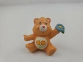 Vintage Care Bears Friend Bear with Blue Flower PVC Figure AGC 1983 2in - $8.00