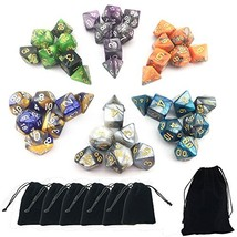 Smartdealspro 6 x 7 Sets(42 Pieces) Two Colors Polyhedral Dice with Free... - $14.32