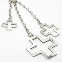 Halskette Silber 925, Kette Venetian, Drei Kreuze Anhänger, Glänzend und Matt image 2