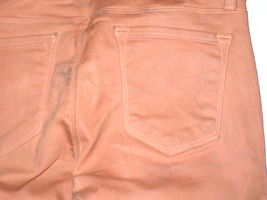 New J Brand Jeans Skinny Womens Coated Peach Leather Mid 26 Tigers Eye Pants USA image 6