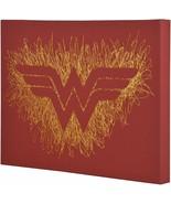 Wonder Woman Logo Paint Splatter Canvas 16 by 20 - $18.69