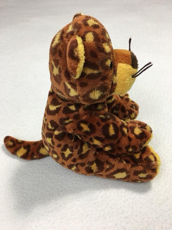 Ty Pluffies Pokey Leopard Cheetah Tiger Plush Stuffed Animal Lovey 2003 Tan