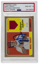 2018 Mike Trout Angels Signed Topps Heritage LE Card  PSA Auto 10 - $989.99