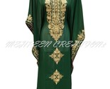 ETHNIC ROYAL UPCOMING GREEN MODERN ARABIC FANCY KAFTAN DRESS AT LOWEST PRICE