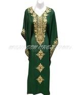 ETHNIC ROYAL UPCOMING GREEN MODERN ARABIC FANCY KAFTAN DRESS AT LOWEST P... - $49.49+