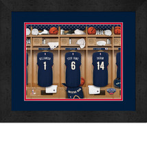 Personalized New Orleans Pelicans 12 x 16 Locker Room Framed Print - $63.95