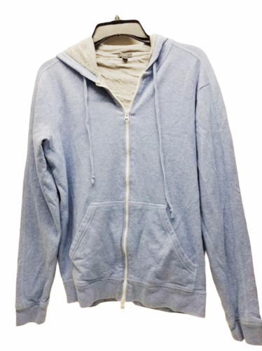 Vince Women Blue Gray Zip Up Hoodie Hood Sweatshirt Sz Medium