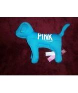 Victorias Geheimnis Pink Hund Neonblau 1986 Plüsch Plüsch - $7.81