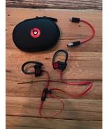 Beats by Dr. Dre Powerbeats 2 Wireless Bluetooth Headphones Black Red - $185.00
